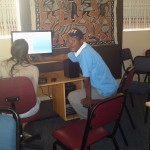 Thembeni and Tamsin editing narration