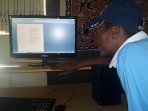 Thembeni Editing Narration for his video story